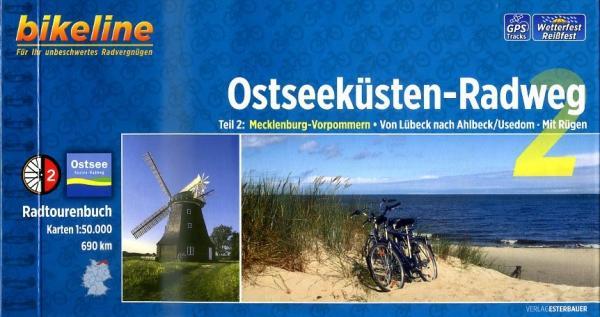 Bikeline Ostseeküsten-Radweg 2 | fietsgids 9783850004619  Esterbauer Bikeline  Fietsgidsen, Meerdaagse fietsvakanties Mecklenburg-Vorpommern