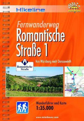 Romantische Strasse (1) | Hikeline Wanderführer (wandelgids) 9783850005241  Esterbauer Hikeline wandelgidsen  Lopen naar Rome, Meerdaagse wandelroutes, Wandelgidsen Romantische Strasse, Schwaben