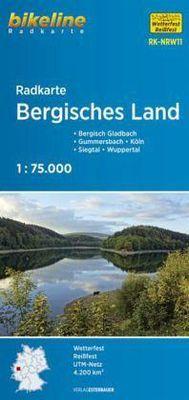 RK-NRW11  Bergisches Land 9783850005951  Esterbauer Bikeline Radkarten  Fietskaarten Düsseldorf, Wuppertal & Bergisches Land