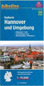 RK-NDS13  Hannover und Umgebung 1:75.000 9783850006347  Esterbauer Bikeline Radkarten  Fietskaarten Lüneburger Heide, Hannover, Weserbergland
