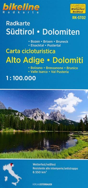 RK-ST02  Südtirol, Dolomiten  1:100.000 9783850006774  Esterbauer Bikeline Radkarten  Fietskaarten Zuid-Tirol, Dolomieten