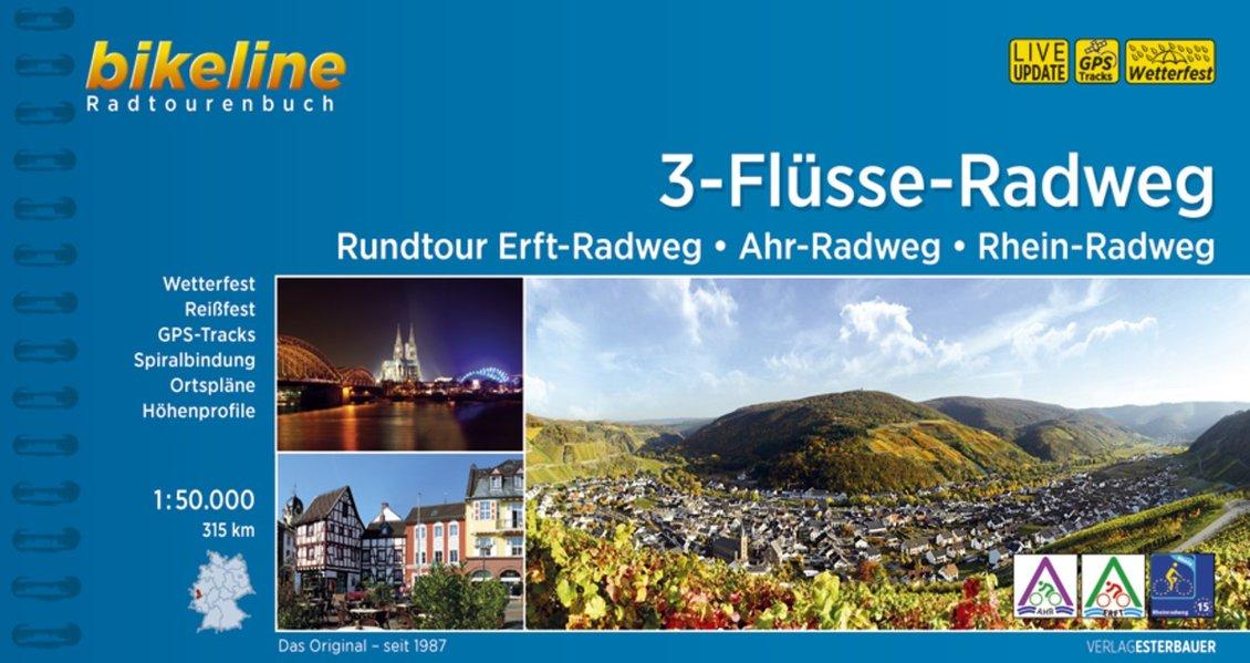 Bikeline 3-Flüsse-Tour | fietsgids 9783850006989  Esterbauer Bikeline  Fietsgidsen Aken, Keulen en Bonn