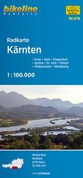 RK-KTN  Kärnten 1:100.000 9783850007207  Esterbauer Bikeline Radkarten  Fietskaarten Salzburg, Karinthië, Tauern, Stiermarken
