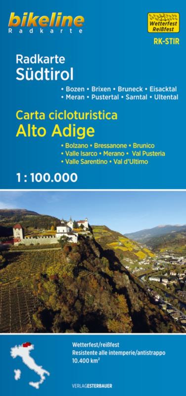 RK-STIR  Südtirol /Alto Adige 1:75.000 9783850007474  Esterbauer Bikeline Radkarten  Fietskaarten Zuid-Tirol, Dolomieten