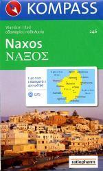 KP-246  wandelkaart/wegenkaart Naxos 1:50.000 | Kompass wandelkaart 9783850260282  Kompass Wandelkaarten   Landkaarten en wegenkaarten Egeïsche Eilanden