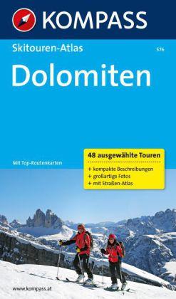 Skitouren-Atlas Dolomiten 9783850264235  Kompass   Wintersport Zuid-Tirol, Dolomieten