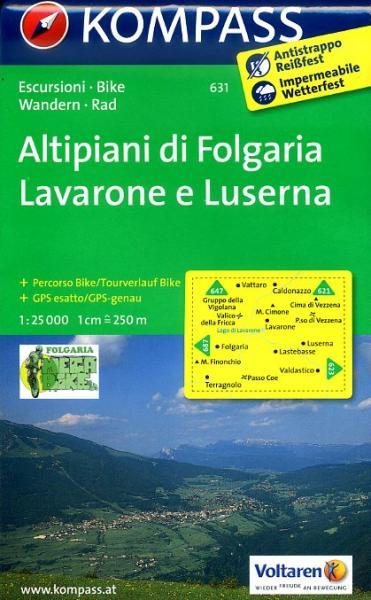 KP-631  Altipiani di Folgaria 1:25.000 | Kompass wandelkaart 9783850264693  Kompass Wandelkaarten Kompass Italië  Wandelkaarten Zuid-Tirol, Dolomieten