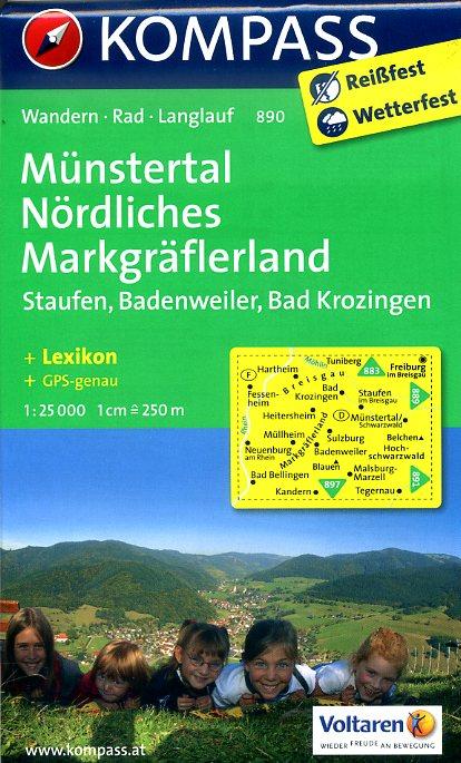 KP-890 Münstertal 1:25.000 | Kompass 9783850265027  Kompass Wandelkaarten Kompass Duitsland  Wandelkaarten Zwarte Woud
