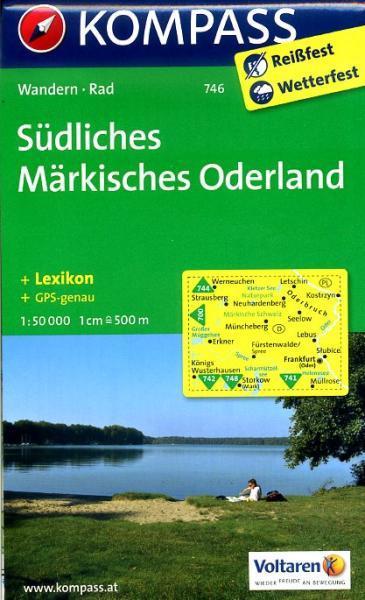 KP-746 Südliches Märkisches Oderland | Kompass wandelkaart 9783850265096  Kompass Wandelkaarten Kompass Duitsland  Wandelkaarten Brandenburg & Sachsen-Anhalt