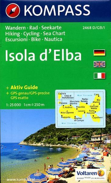KP-2468  Elba 1:25.000 | Kompass wandelkaart 9783850266079  Kompass Wandelkaarten Kompass Italië  Wandelkaarten Elba