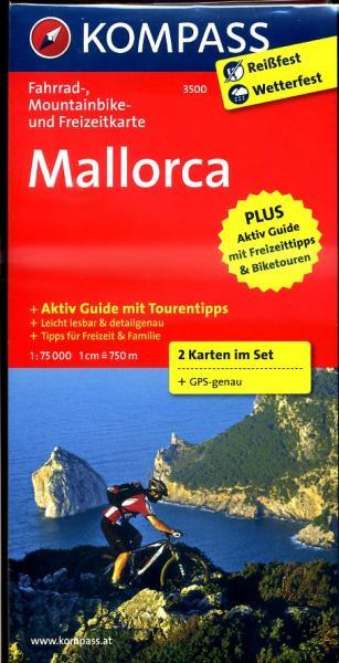 KP-3500 Mallorca 1:75.000 9783850266840  Kompass fietskaarten   Fietskaarten Mallorca