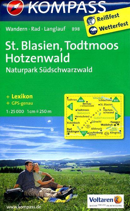 KP-898 St.Blasien/Todtmoos | Kompass 9783850267236  Kompass Wandelkaarten Kompass Duitsland  Wandelkaarten Zwarte Woud