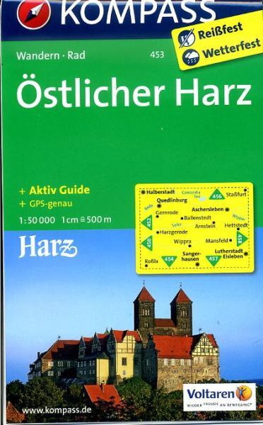 KP-453  Östlicher Harz | Kompass wandelkaart 9783850268622  Kompass Wandelkaarten Kompass Duitsland  Wandelkaarten Harz
