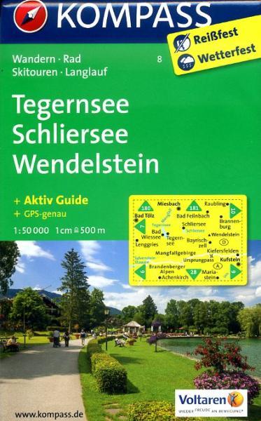 KP-8 Tegernsee-Schliersee | Kompass wandelkaart 9783850268691  Kompass Wandelkaarten Kompass Duitsland  Wandelkaarten Beierse Alpen