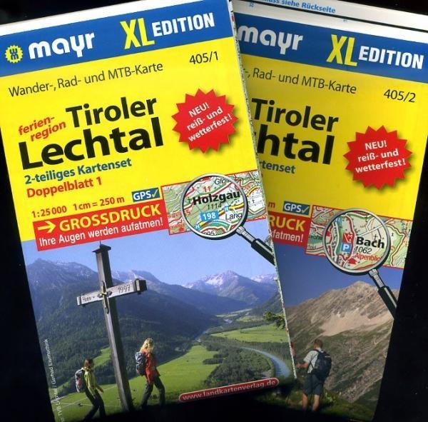 KP-405 XL Tiroler Lechtal 1:25.000 9783850269186  Mayr   Wandelkaarten Tirol & Vorarlberg