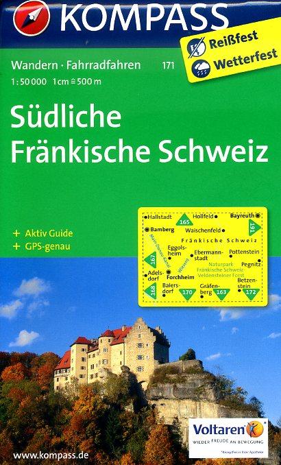 KP-171 Südliche Fränkische Schweiz | Kompass wandelkaart 9783850269995  Kompass Wandelkaarten Kompass Duitsland  Wandelkaarten Franken, Nürnberg, Altmühltal