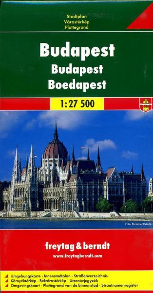 Budapest 1:27.500 | stadsplattegrond 9783850841238  Freytag & Berndt   Stadsplattegronden Hongarije