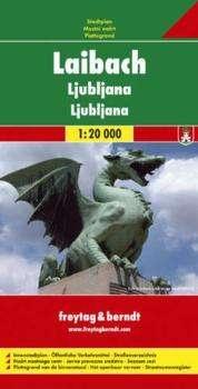 Ljubljana stadsplattegrond 1:20.000 9783850841375  Freytag & Berndt   Stadsplattegronden Slovenië