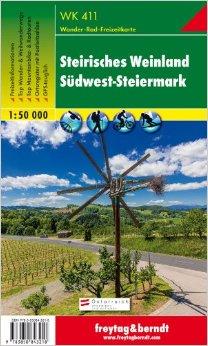 WK-411 Steirisches Weinland/Süd West Steiermark 9783850843218  Freytag & Berndt WK 1:50.000  Wandelkaarten Salzburg, Karinthië, Tauern, Stiermarken