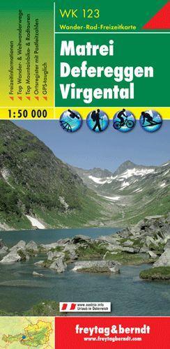 WK-123  Matrei, Defereggen,Virgental 9783850847148  Freytag & Berndt WK 1:50.000  Wandelkaarten Salzburg, Karinthië, Tauern, Stiermarken