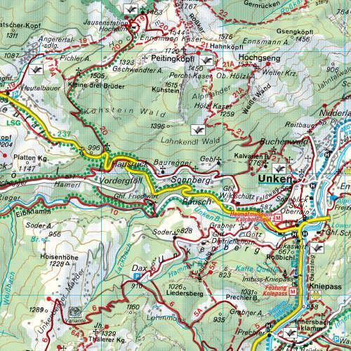 WK-181  Kals,Heiligenblut,Matrei, Lienz 9783850847186  Freytag & Berndt WK 1:50.000  Wandelkaarten Salzburg, Karinthië, Tauern, Stiermarken