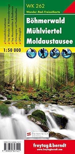 WK-262  Böhmerwald - Mühlviertel - Moldaustausee (Lipnomeer) 9783850847421  Freytag & Berndt WK 1:50.000  Wandelkaarten Oberösterreich, Niederösterreich, Burgenland, Tsjechië