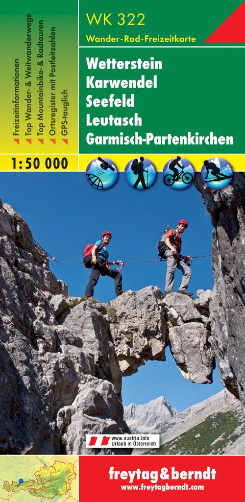 WK-322  Wetterstein,Karwendel,Seefeld,Leutasch,GP. 9783850847483  Freytag & Berndt WK 1:50.000  Wandelkaarten Tirol & Vorarlberg