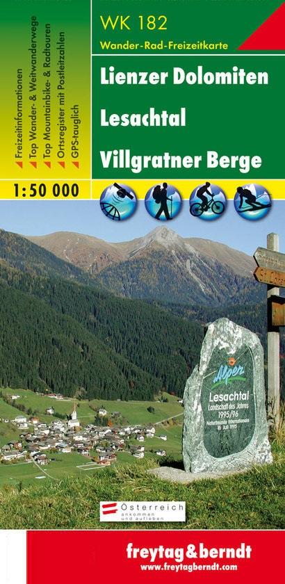 WK-182  Lienzer Dolomiten,Lesachtal 9783850847827  Freytag & Berndt WK 1:50.000  Wandelkaarten Salzburg, Karinthië, Tauern, Stiermarken