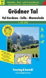 WK-S05 Grödner Tal 9783850847957  Freytag & Berndt WK 1:50.000  Wandelkaarten Zuid-Tirol, Dolomieten