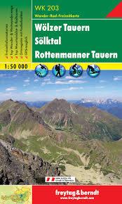 WK-203  Wölzer Tauern-Sölktal-Rottenmanner, Tauern 9783850848046  Freytag & Berndt WK 1:50.000  Wandelkaarten Salzburg, Karinthië, Tauern, Stiermarken