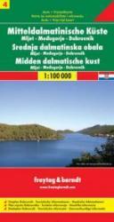Dalmatinische Küste 4: Mljet/Dubrovnik/Medjugori | autokaart, wegenkaart 9783850849999  Freytag & Berndt   Landkaarten en wegenkaarten Kroatië