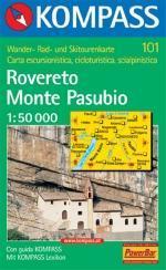 KP-101 Rovereto/Monte Pasubio | Kompass wandelkaart 9783854911036  Kompass Wandelkaarten Kompass Italië  Wandelkaarten Zuid-Tirol, Dolomieten