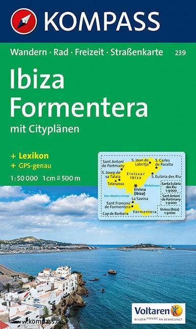 KP-239 Ibiza & Formentera | Kompass wandelkaart 9783854911739  Kompass Wandelkaarten   Wandelkaarten Ibiza