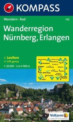 KP-170 Nürnberg/Fürth/Erlangen | Kompass wandelkaart 9783854912712  Kompass Wandelkaarten Kompass Duitsland  Wandelkaarten Franken, Nürnberg, Altmühltal