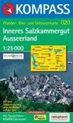 KP-020  Inneres Salzkammergut, Ausseerland | Kompass wandelkaart 9783854914341  Kompass Wandelkaarten Kompass Oostenrijk  Wandelkaarten Salzburg, Karinthië, Tauern, Stiermarken