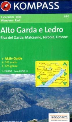 KP-690 Alto Garda e Ledro 1:25.000 | Kompass wandelkaart 9783854917724  Kompass Wandelkaarten Kompass Italië  Wandelkaarten Gardameer