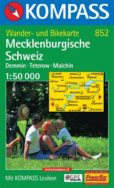 KP-852  Mecklenburgische Schweiz | Kompass 9783854917922  Kompass Wandelkaarten Kompass Duitsland  Wandelkaarten Mecklenburg-Vorpommern