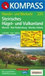 KP-225 Steirisches Hügel und Vulkanland | Kompass wandelkaart 9783854918660  Kompass Wandelkaarten Kompass Oostenrijk  Wandelkaarten Wenen, Noord- en Oost-Oostenrijk