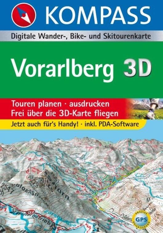 Vorarlberg 9783854919841  Kompass GPS-Routenplaner  Wandelkaarten Tirol & Vorarlberg