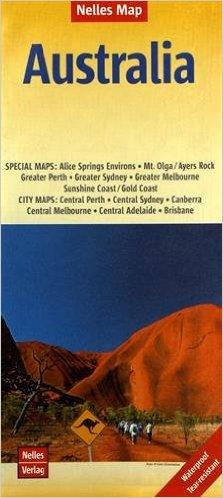 Australie | wegenkaart - overzichtskaart 1:4.500.000 9783865740700  Nelles Nelles Maps  Landkaarten en wegenkaarten Australië