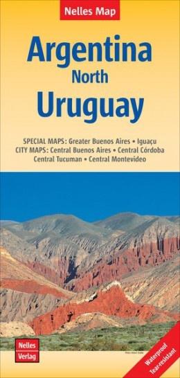 Argentinie, Noord- / Uruguay | wegenkaart - overzichtskaart 1:2.500.000 9783865740847  Nelles Nelles Maps  Landkaarten en wegenkaarten Argentinië, Paraguay, Uruguay