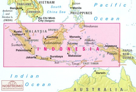 Indonesie - overzichtskaart   wegenkaart - overzichtskaart 1:4.500.000 9783865740946  Nelles Nelles Maps  Landkaarten en wegenkaarten Indonesië