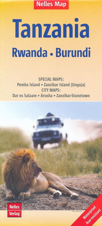 Tanzania | wegenkaart - overzichtskaart 1:1.500.000 9783865741172  Nelles Nelles Maps  Landkaarten en wegenkaarten Tanzania, Zanzibar