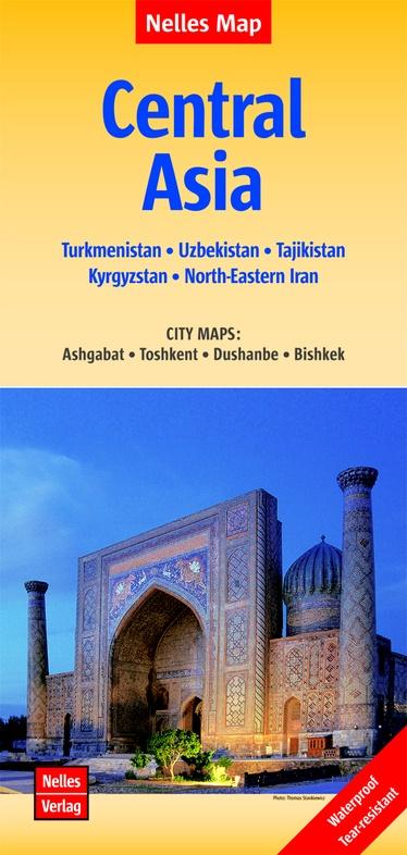 Central Asia | wegenkaart - overzichtskaart 1:1.750.000 9783865742988  Nelles Nelles Maps  Landkaarten en wegenkaarten Centraal-Aziatische republieken (Kazachstan, Uzbekistan, Turkmenistan, Kyrgysztan, Tadjikistan)