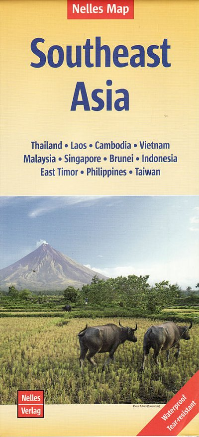 South East Asia overzichtskaart Zuidoost-Azië | wegenkaart - overzichtskaart 1:4.500.000 9783865744838  Nelles Nelles Maps  Landkaarten en wegenkaarten Zuid-Oost Azië