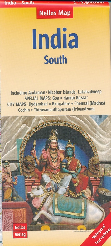 India 04: Zuid   wegenkaart - overzichtskaart 1:1.500.000 9783865745026  Nelles Nelles Maps  Landkaarten en wegenkaarten India
