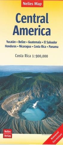 Central America | wegenkaart - overzichtskaart 1:1.750.000 9783865745309  Nelles Nelles Maps  Landkaarten en wegenkaarten Midden-Amerika