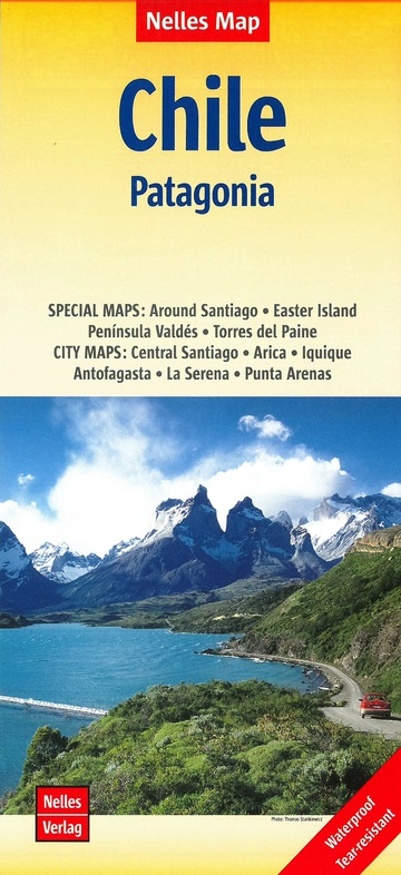 Chili | wegenkaart - overzichtskaart 1:2.500.000 9783865746139  Nelles Nelles Maps  Landkaarten en wegenkaarten Chili, Argentinië, Patagonië