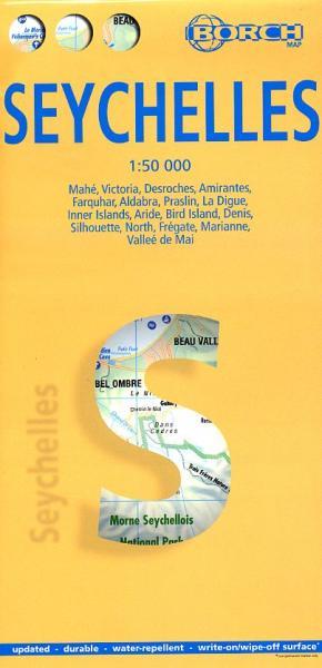 Seychellen 9783866091238  Borch   Landkaarten en wegenkaarten Seychellen, Reunion, Comoren, Mauritius