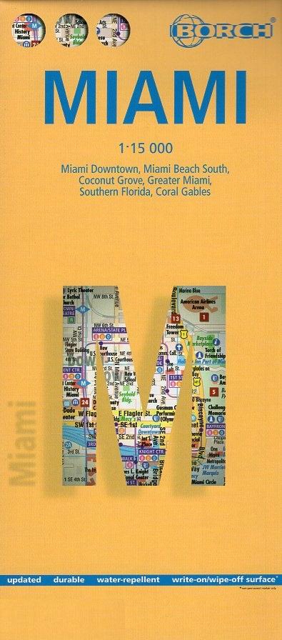 Miami stadsplattegrond 1:15.000 9783866091511  Berndtson / Borch   Stadsplattegronden Florida